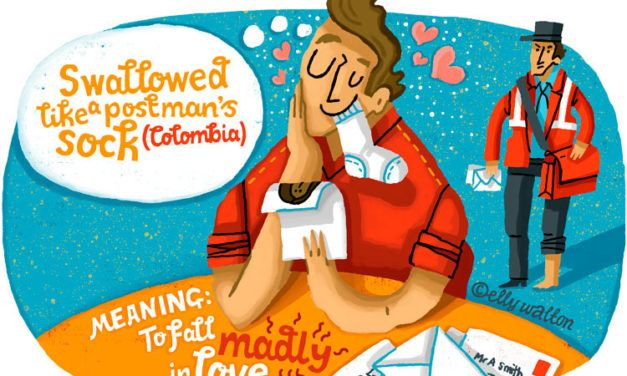 Ilustradora cria divertidos desenhos para traduzir o amor em vários idiomas