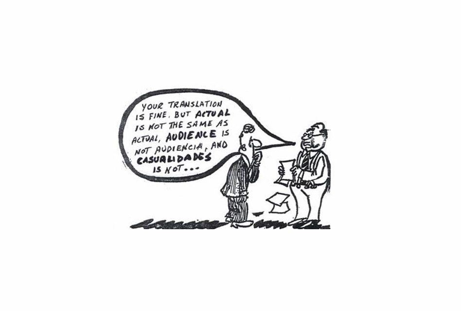 Inglês: Falsos Cognatos mais comuns